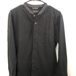 Wings + Horns Collar-less Black Shirt